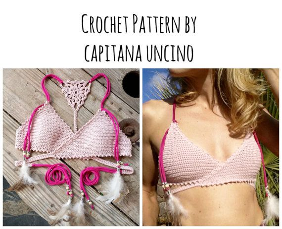 This Listing Is Pdf Crochet Pattern For Aliyah Bikini Top Not