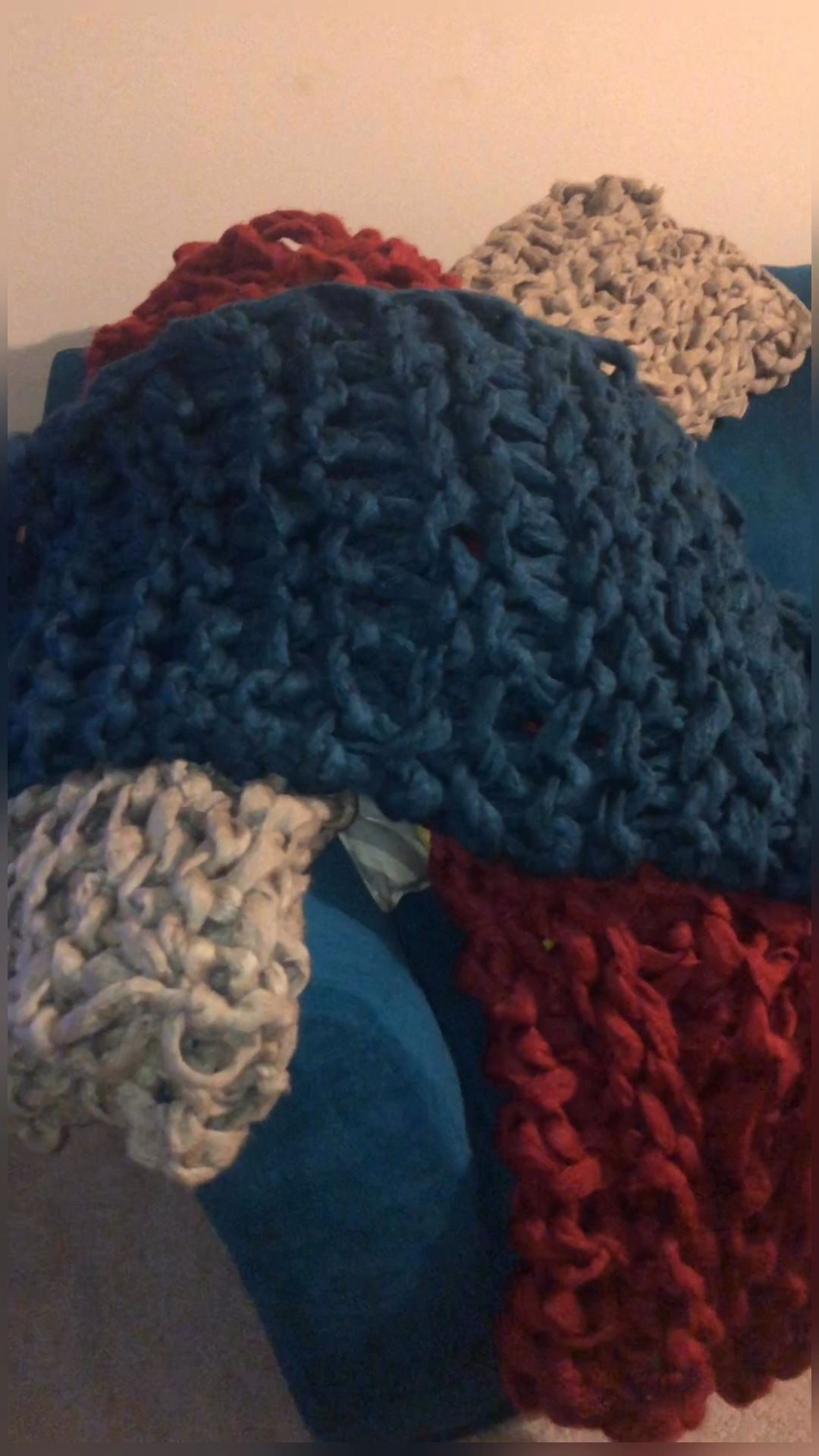 Photo of Large armknitted blankets