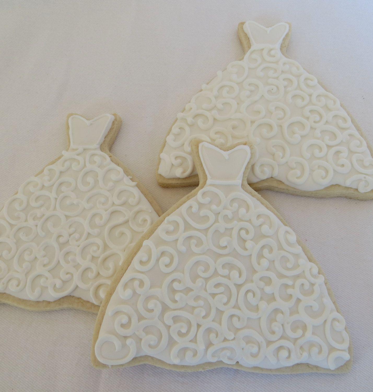 Wedding Gown Cookies, 1 Dozen. $33.00, via Etsy. | Wedding ideas ...