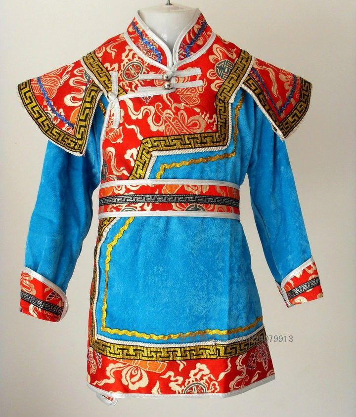 Robed-mongolia-child-Mongolia-clothes-male-child-dance-costume-performance-wear-belt.jpg (720×844)