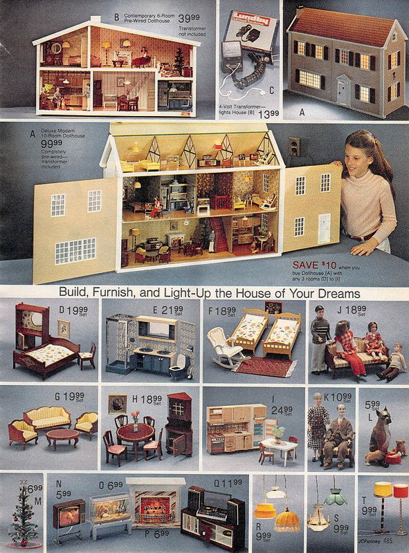 Dollhouses From The J C Penney Christmas Catalog 1980 Nostalgia