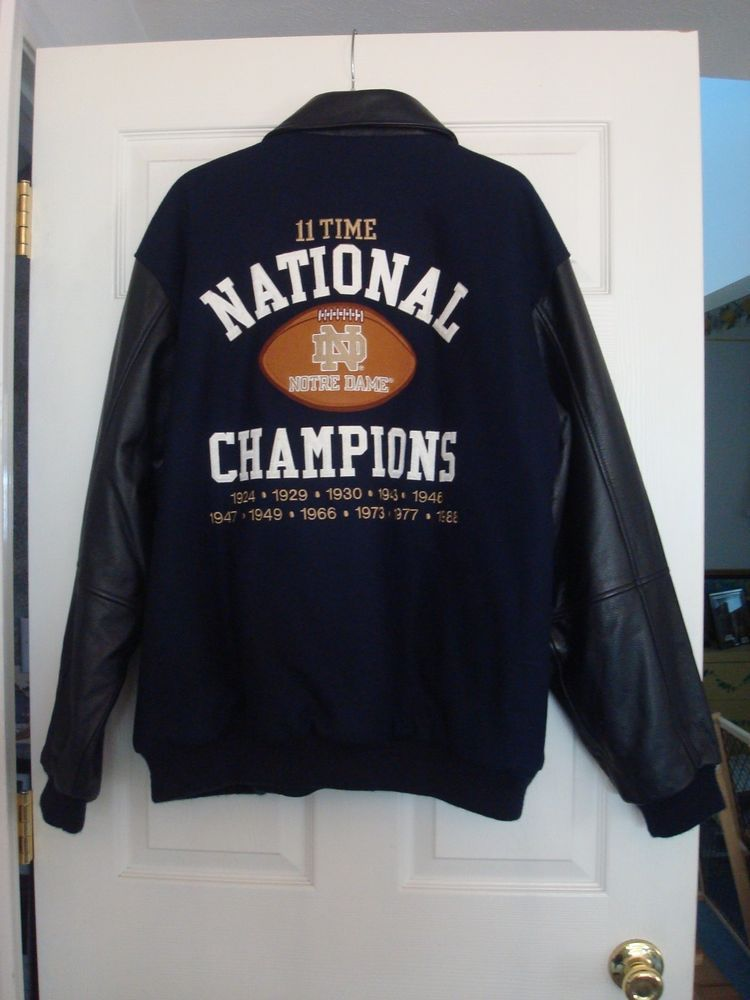 aa905f0a0 Notre Dame National Champions Jacket 11x Champions