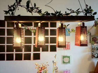 upcycled cheese grater lamps these diy illuminators are inspired