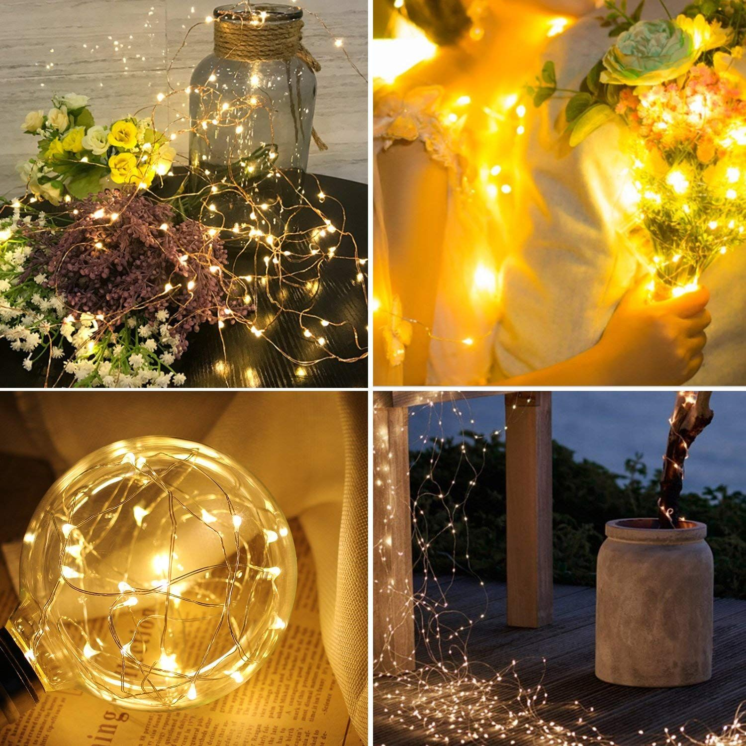 Prefer Green Solar String Lights 100 Led 33ft 8 Modes Indoor Christmas On A T Question Outdoor Waterproof Decorative