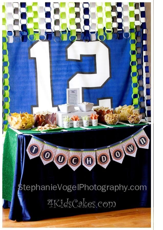 12th Man Football Birthday Party Spaceships And Laser Beams Football Birthday Party Football Birthday Luau Party Invitations