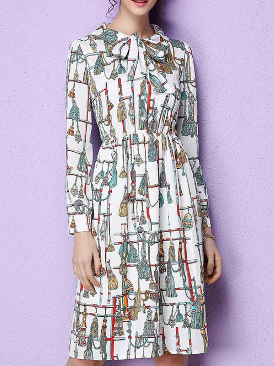 AdoreWe #StyleWe Midi Dresses - Designer KAN·F Casual A-line Long ...