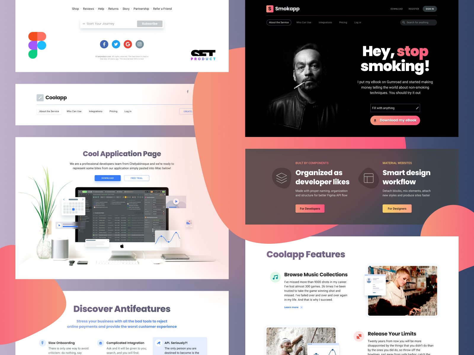 Material Design Website Template For Figma Material Design Website Website Design Website Template
