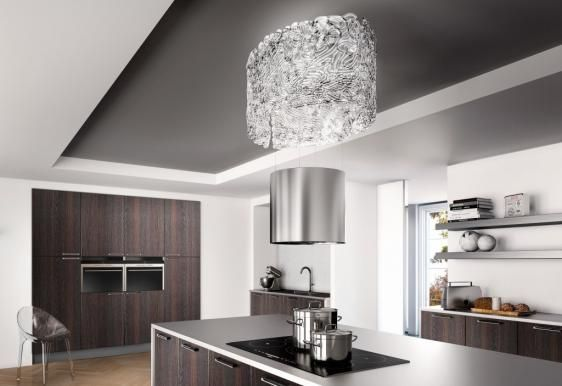 The Stunning Nest Island Cooker Hood From Faber, Featuring Unique  Up And Down Technology.