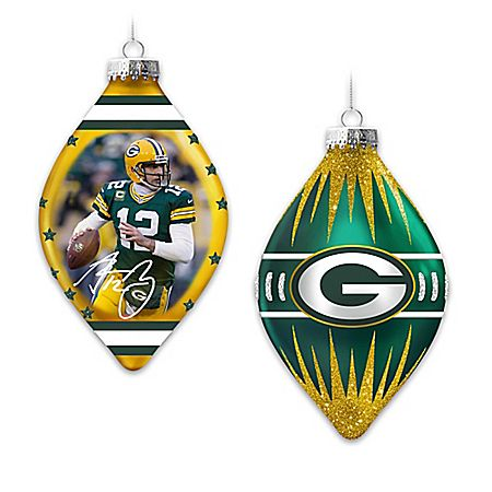 Packers Heirloom Glass Ornament Collection. Nfl FootballNfl Green BayGreen  ... - Packers Heirloom Glass Ornament Collection Sport Pinterest
