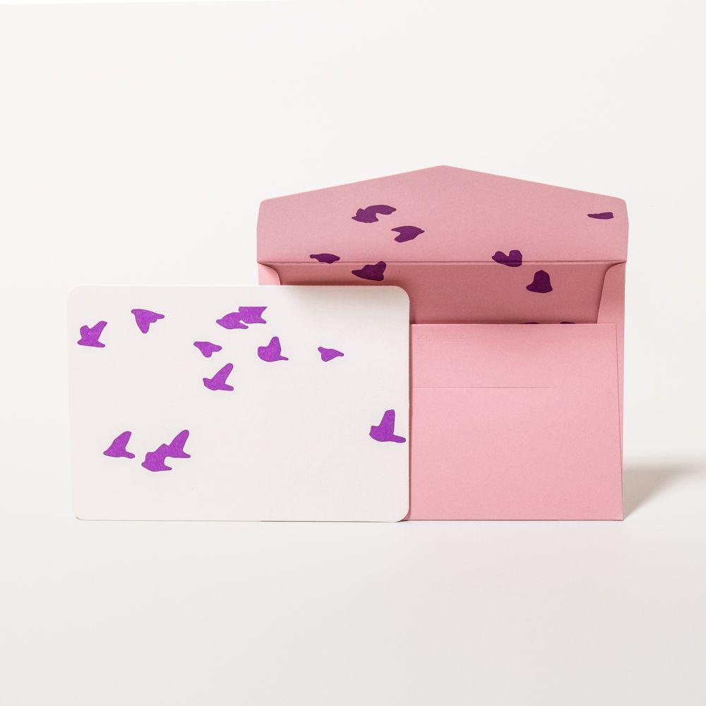 """Handmade set of greeting cards """"Birds"""" by Le Typographe on www.papperlott.de"""
