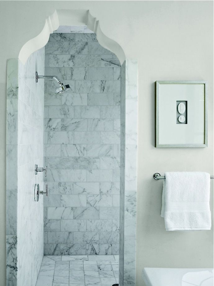 Arched Shower Entry