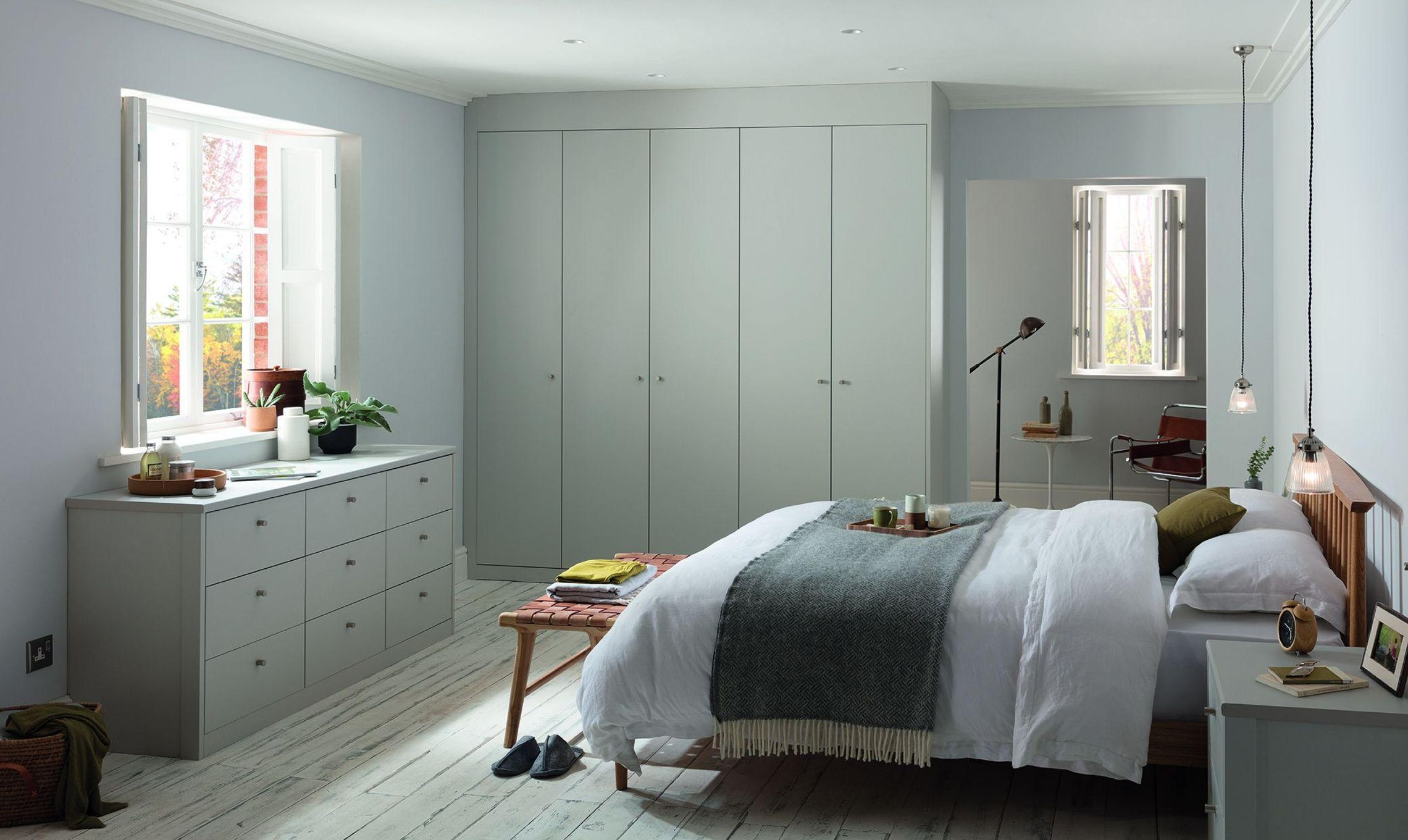 Create The Natural Sleek Look With Hannah Cork Fitted Bedroom Furniture Green Bedroom Design Attic Bedroom Designs