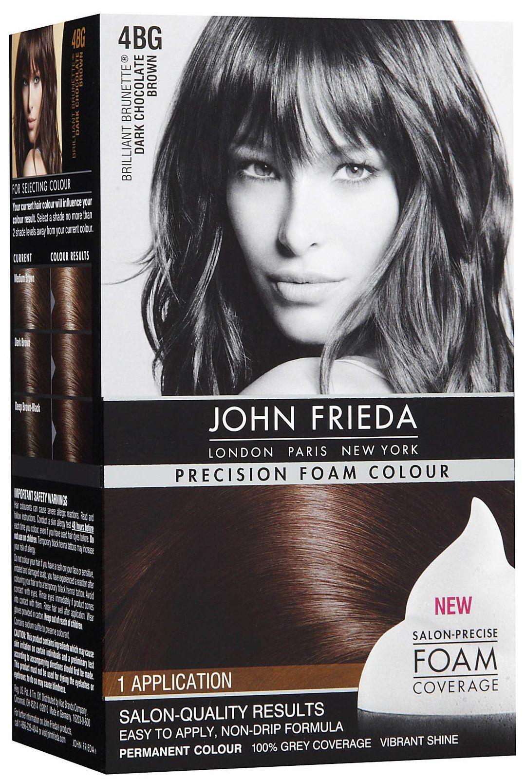 John Frieda Dark Chocolate Brown Precision Foam Color Products I