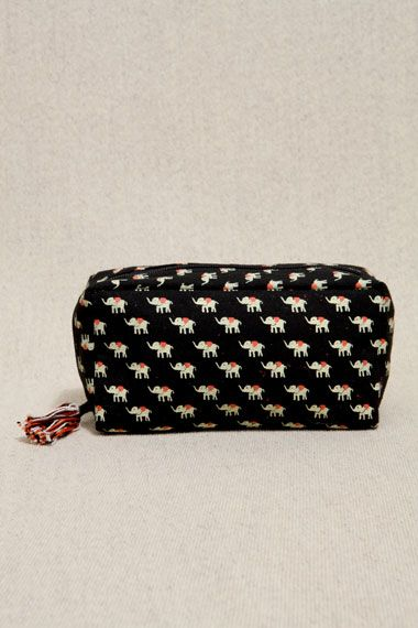 Urban Outfitters - Elephant Print Cosmetics Case