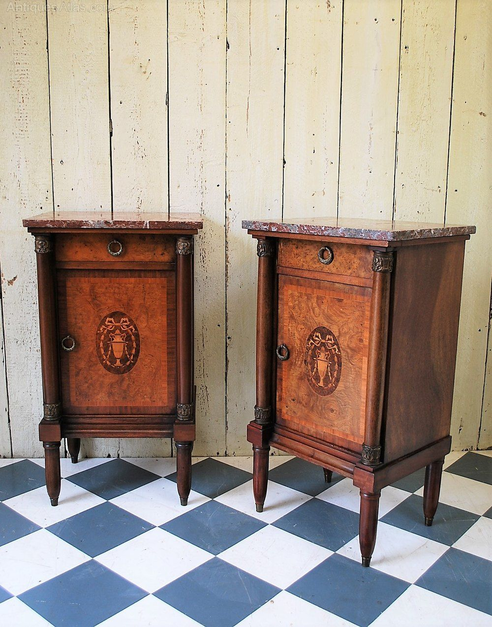 Pair Of French Mahogany Bedside