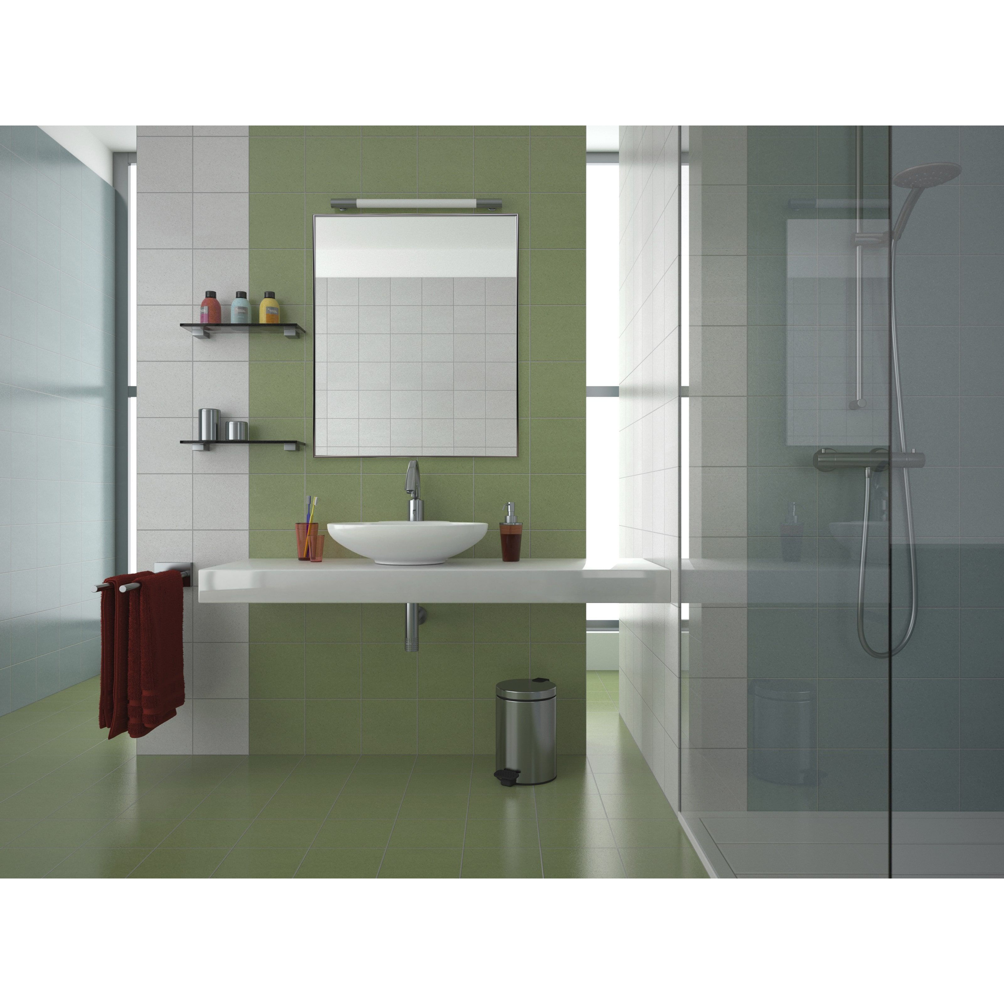 Aluminum Vanity Mirror With 3 8 Inch Molding 24 X 30