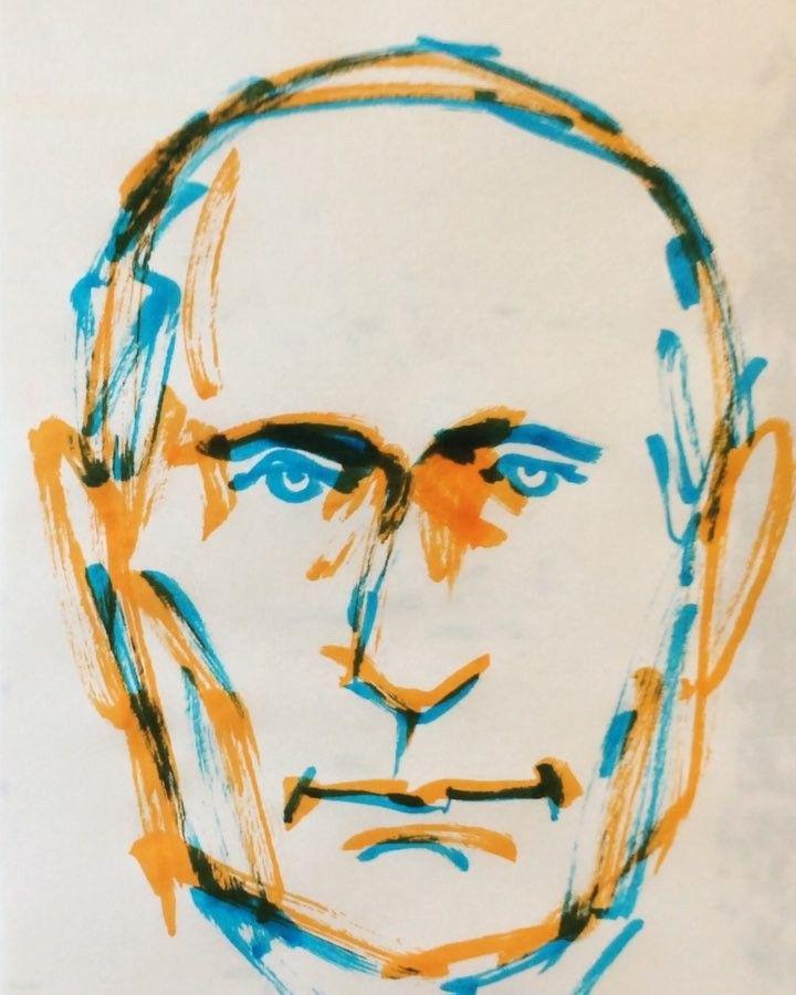 いいね!34件、コメント1件 ― @1mindrawのInstagramアカウント: 「#1mindraw #一分描画 #ВладимирПутин #vladimirputin #ウラジーミルプーチン #プーチン大統領 #politician #政治家…」