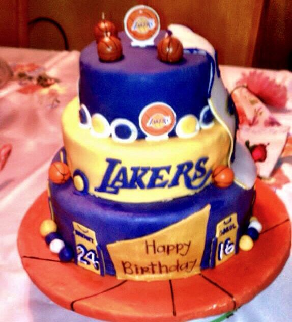 Lakers Birthday Cake Cakes By Me Pinterest Birthday Cakes And Cake