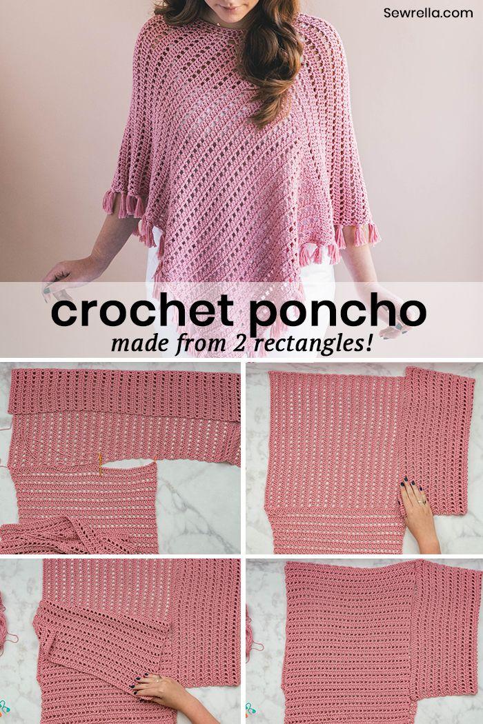 Crochet Ava Fringed Poncho Pinterest Beginner Crochet Ponchos