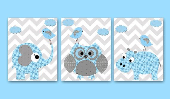 Baby Boy Nursery Decor Children Art Print Baby by artbynataera