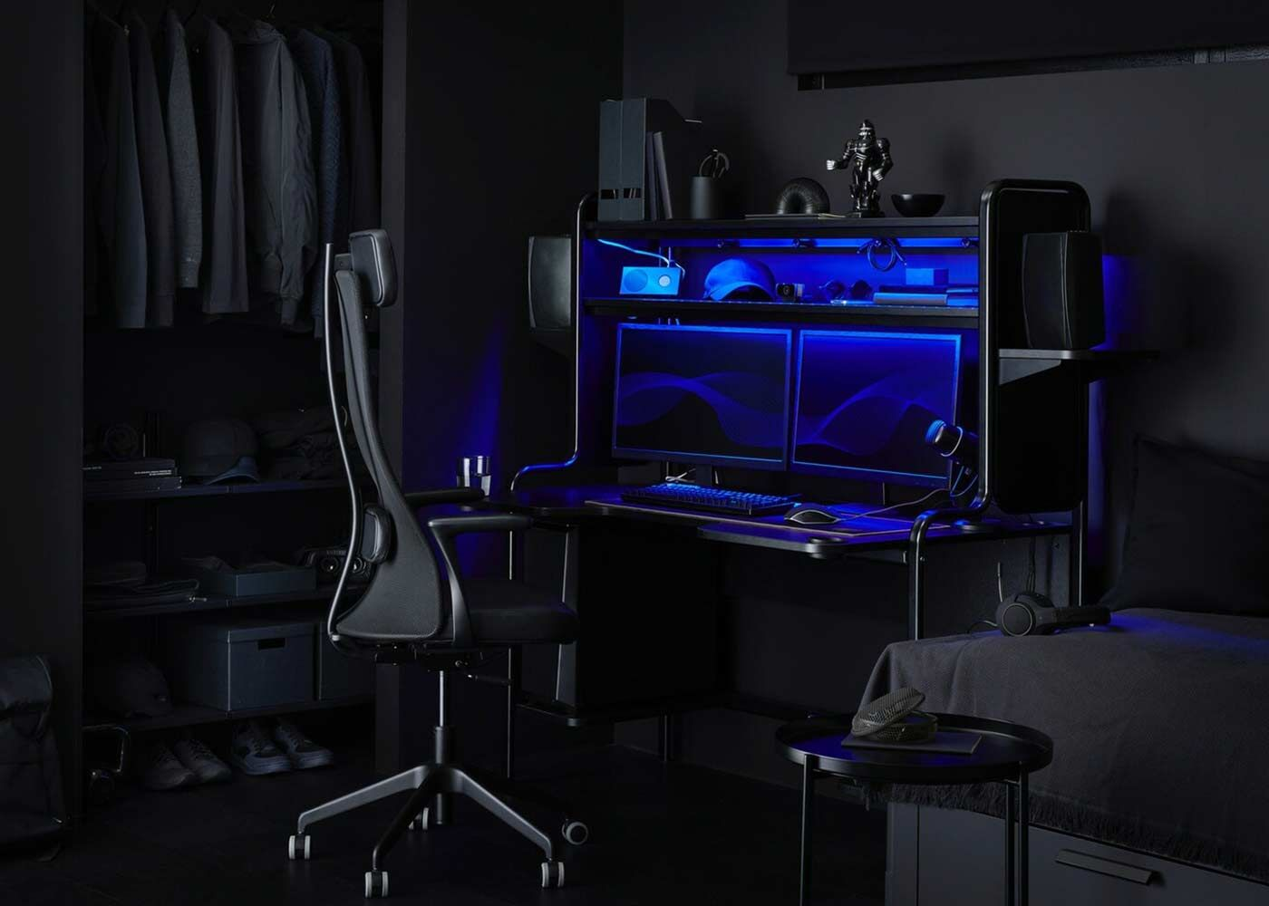Ein Ideales Gaming Zimmer Einrichten Home Office Furniture Ikea Gaming Room Setup