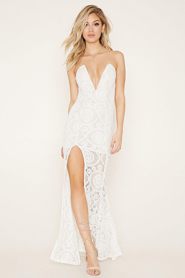Tiger Mist Lace Maxi Dress Strapless Lace Dress Lace Mini Dress White Strapless Dress [ 1125 x 750 Pixel ]