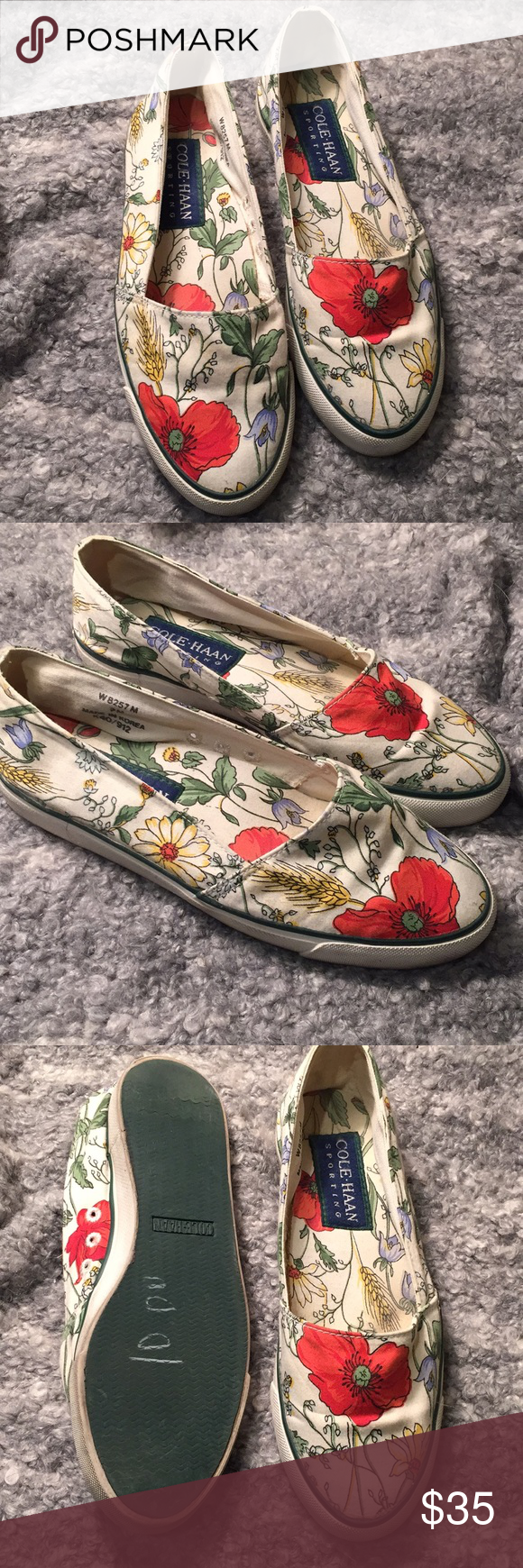 e00f5878533 Cole Haan Floral Loafer Flats Lovely shoes in a fun print. Decent  condition. They
