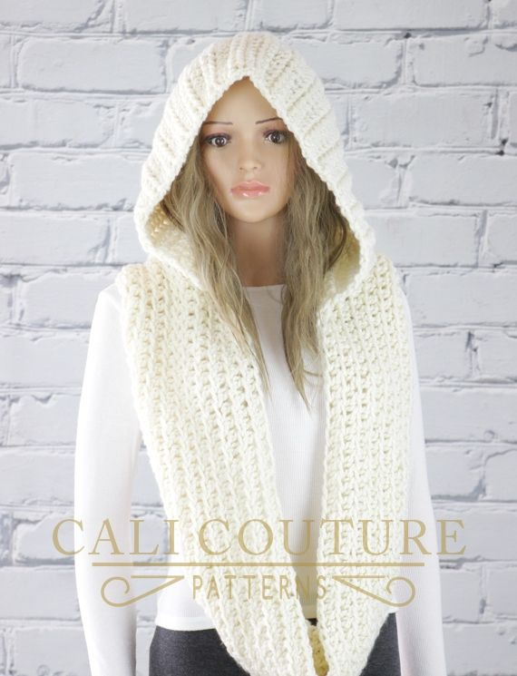 Crochet Hooded Infinity Scarf Pattern | Knitted cool | Pinterest ...