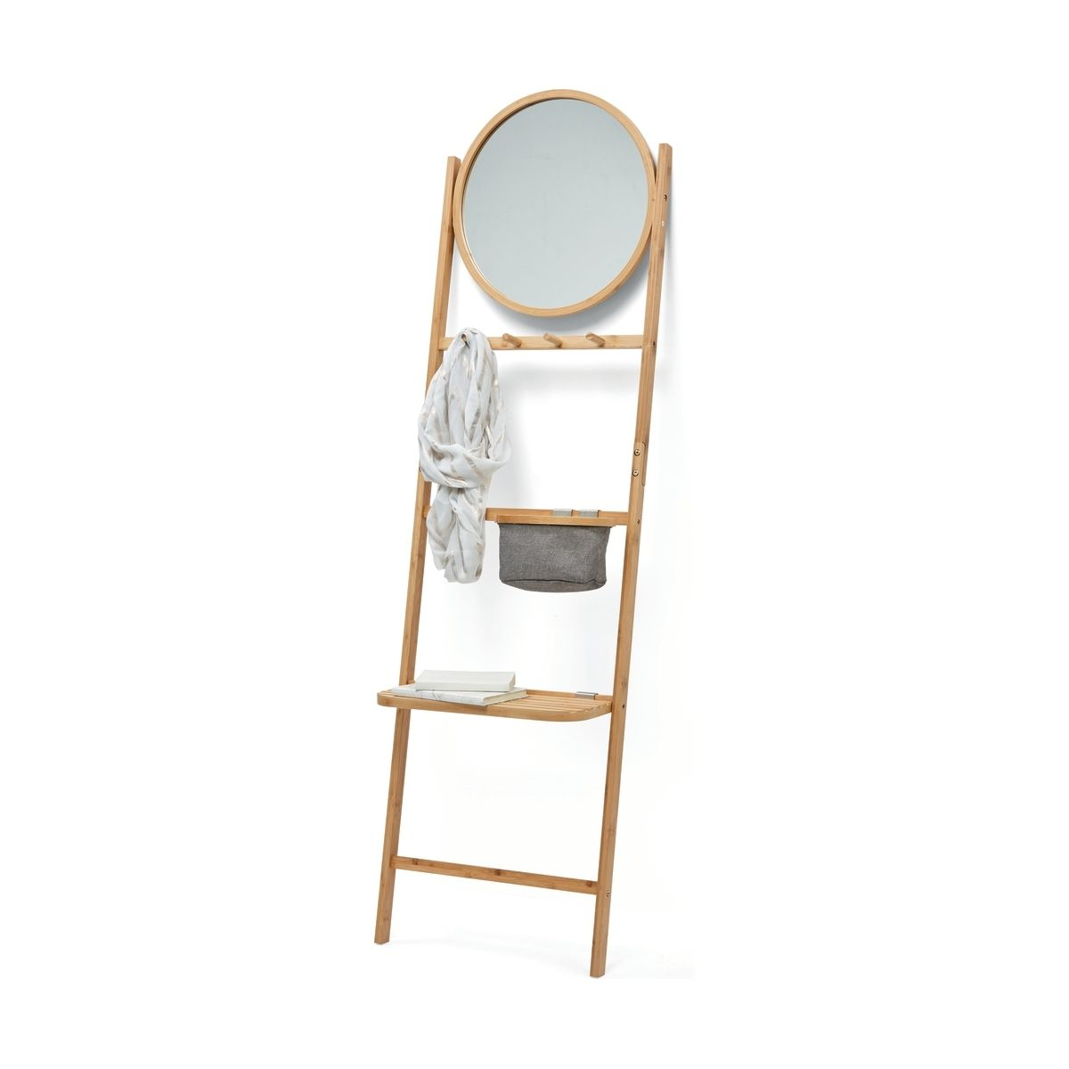 Leaning Storage Mirror With Bamboo Frame Kmart Storage Mirror Bamboo Frame Living Room Storage