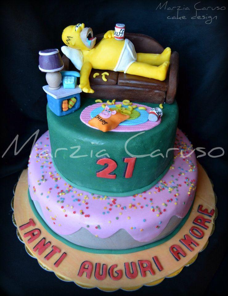 Simpson cake i love it gateau anniversaire - Simpson anniversaire ...