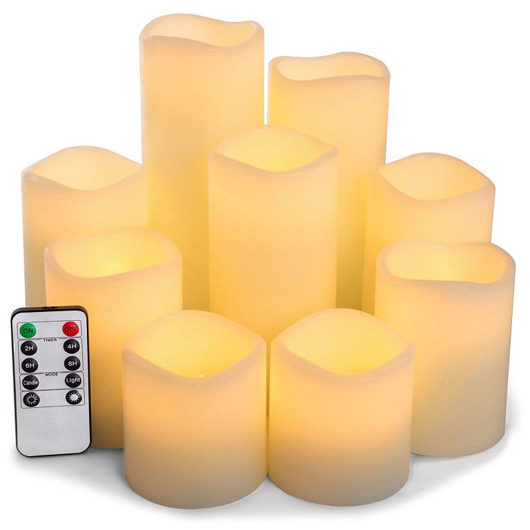 12pcs Led Electric Candle Lights Remote Control Timer Led Tea Lights Battery Powered Candles Electric Candles