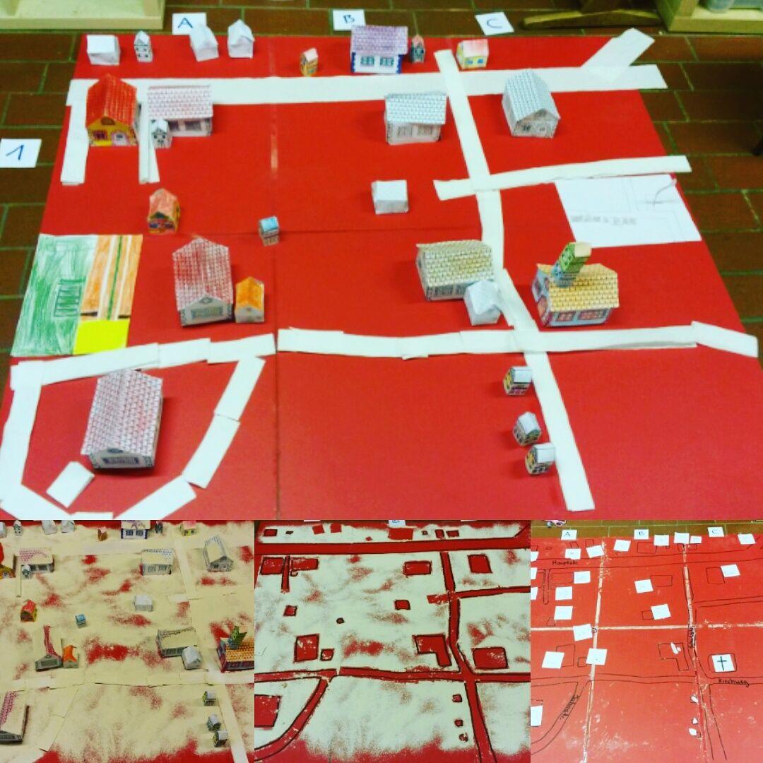 Von Der Wirklichkeit Zur Karte Karten Grundschule Idee