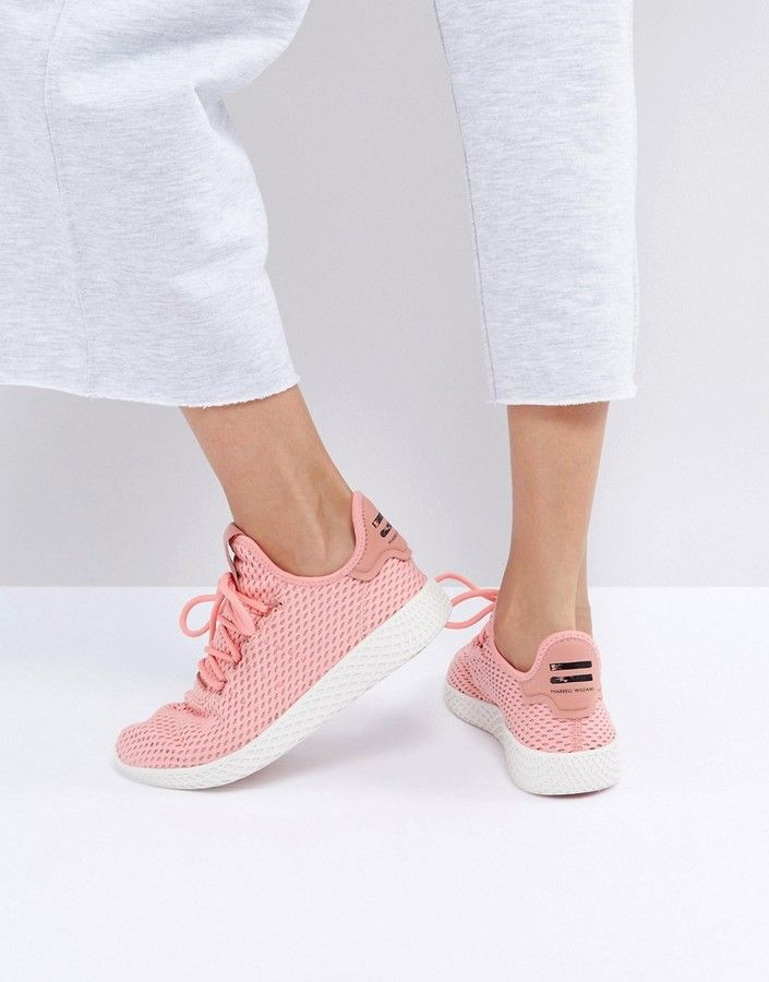 adidas originali x pharrell williams tennis hu formatori in rosa