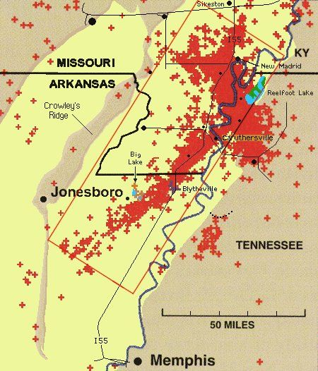 Fault Lines In Missouri Map.The New Madrid Fault System Contains Two Types Of Faults A Strike