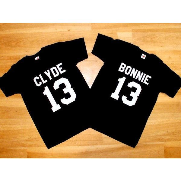 T-shirts Bonnie and Clyde, Couple shirts Bonnie and Clyde, Bonnie... (46 BGN) via Polyvore featuring tops, t-shirts, shirt top, sexy tee, tee-shirt, sexy tops and sexy t shirts