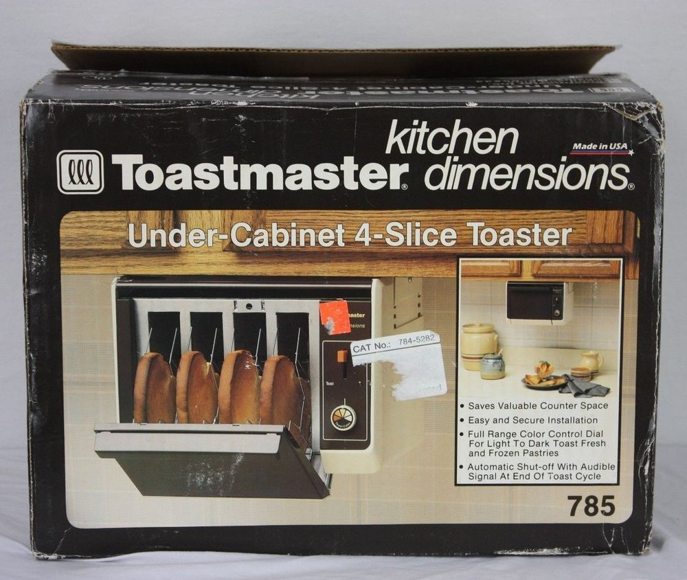 Beau VTG New Toastmaster Under Cabinet 4 Slice Toaster 785 Kitchen Dimensions  Hanging #KitchenDimensions