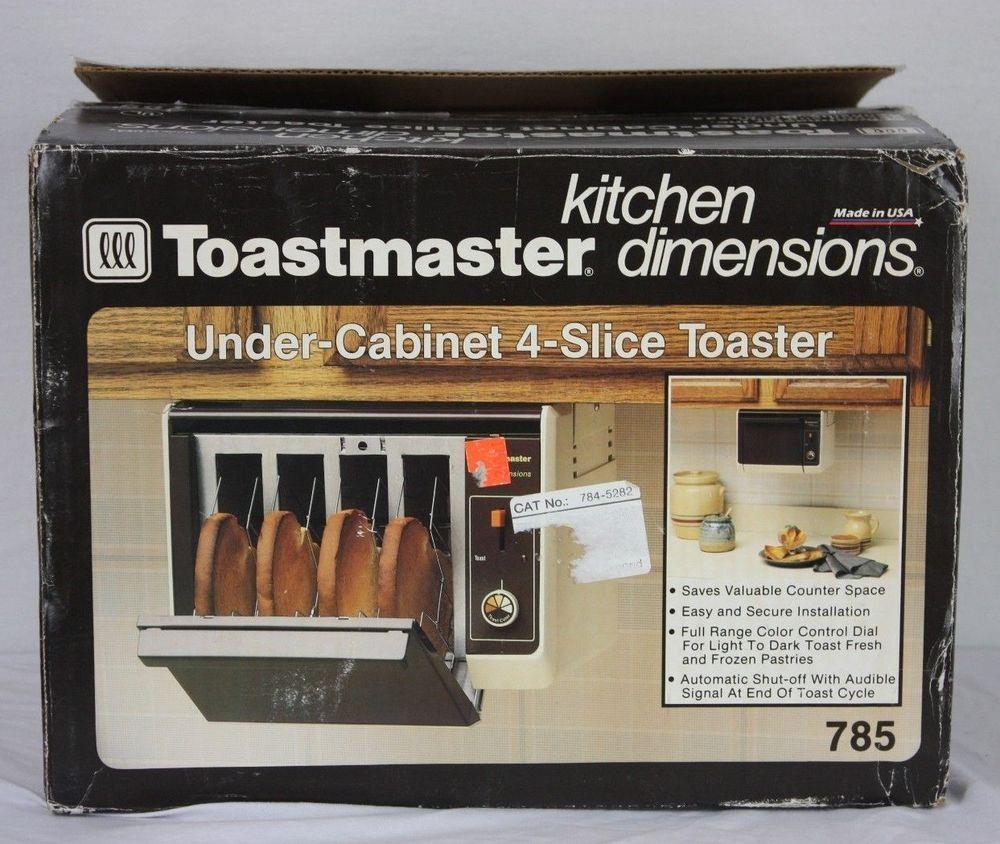 VTG New Toastmaster Under Cabinet 4 Slice Toaster 785 Kitchen ...
