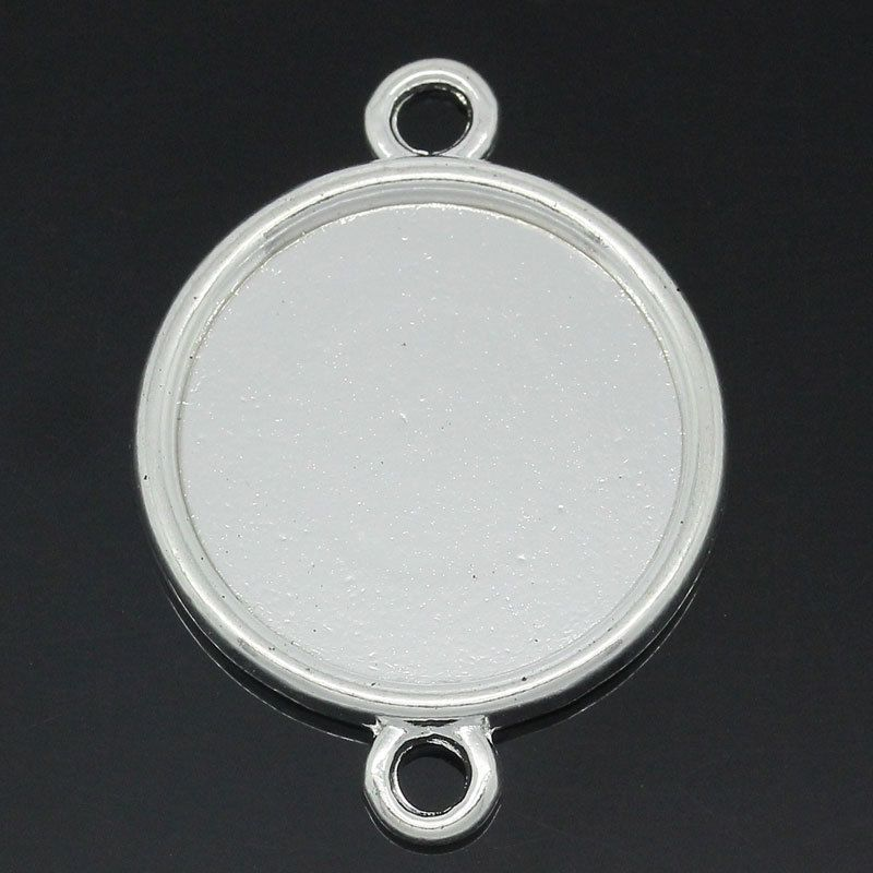 $3.24 - 20Pcs Cameo Setting Picture Frame Connectors Round Silver ...