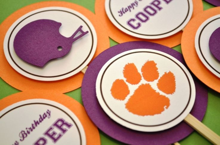 Clemson Cupcake Toppers I Have A The Tiger Paw In