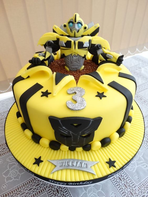 Bumblebee Transformers Cake Liam Birthday Cake Ideas Pinterest