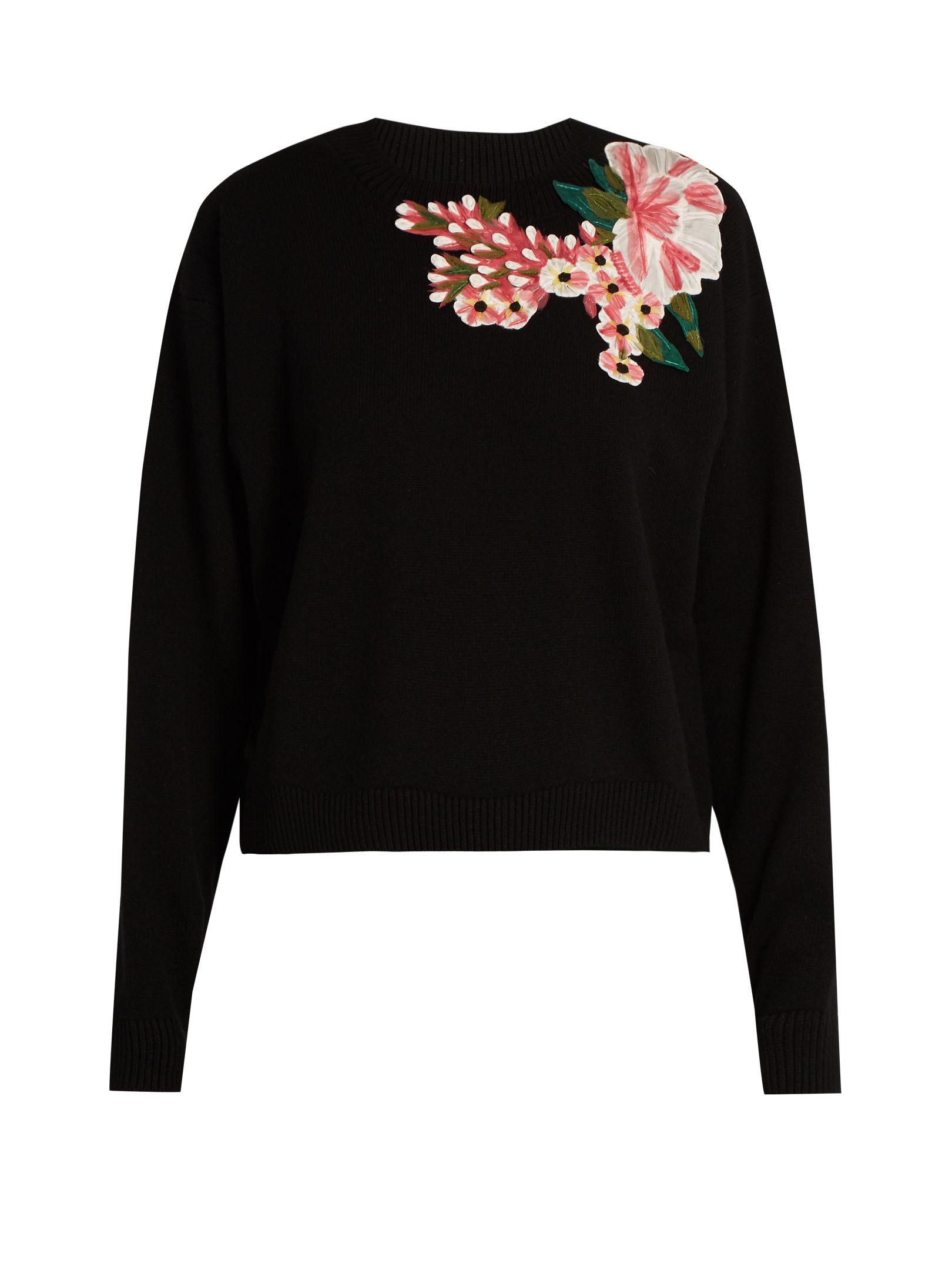 674e9021df9c50 Floral-appliqué wool and cashmere-blend sweater | Dolce & Gabbana |  MATCHESFASHION.COM UK