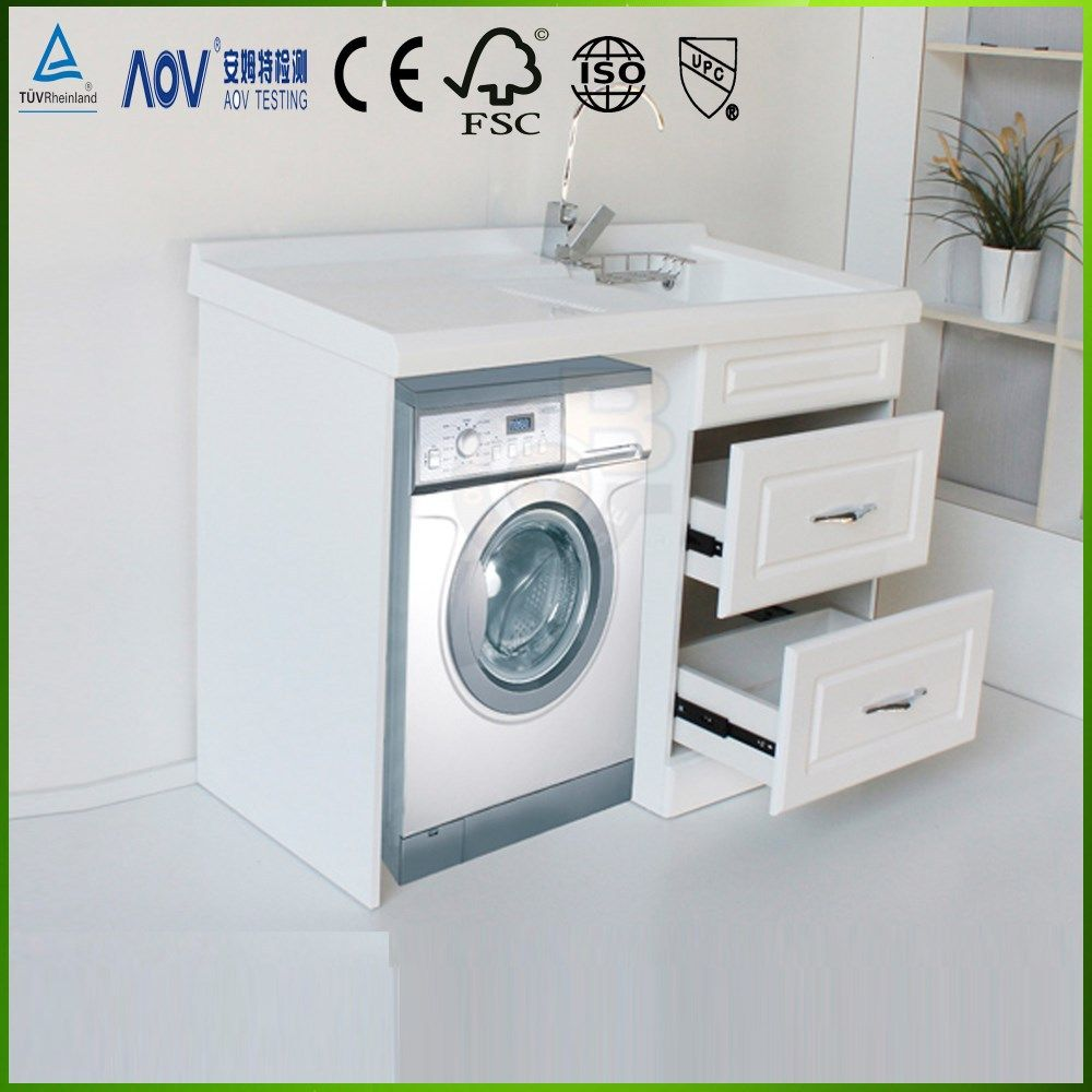 Modern Bathroom Vanity Cabinet With Washing Machine Cabinet Photo Detailed About Modern Bathro Modern Bathroom Vanity Modern Bathroom Bathroom Vanity Cabinets