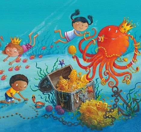 octopus garden preschool story illustration for search ilustracje 290