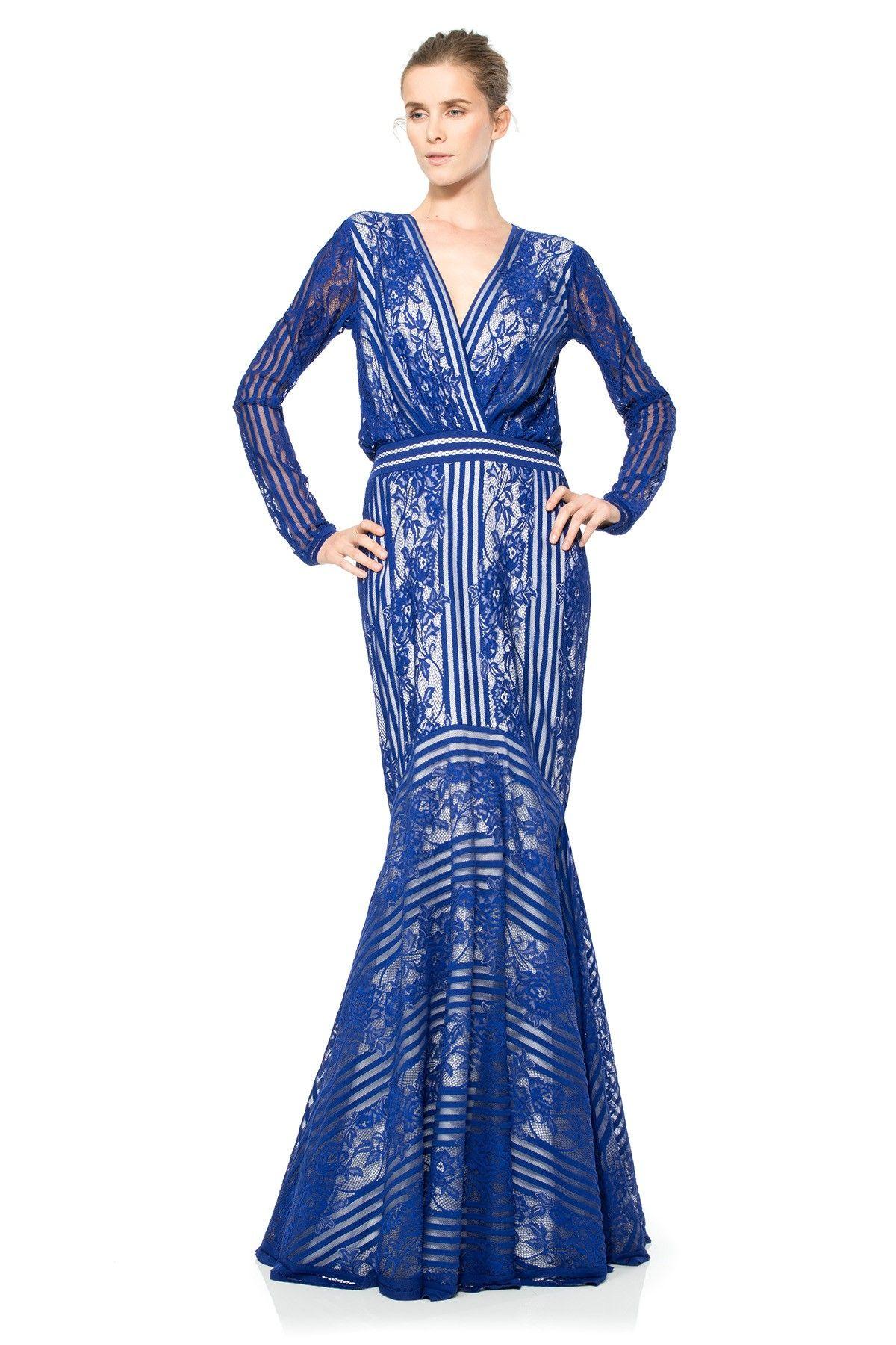 Wedding guest maxi finds pinterest long sleeve gown tadashi