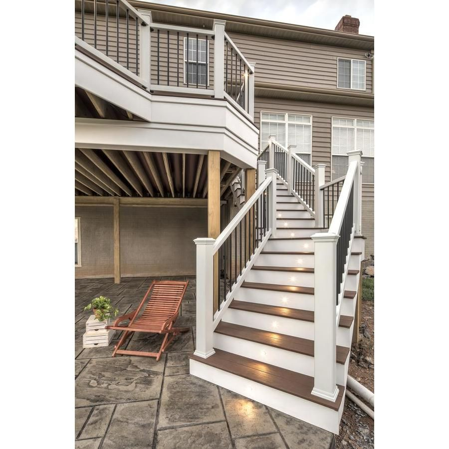 Trex Assembled 6 X 3 Enhance White Deck Railing Kit At Lowes Com Deck Railing Kits Stair Railing White Deck