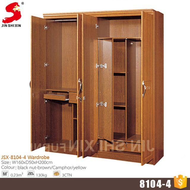 Source Home furniture wood almirah designs 4 door wardrobe cabinet ...