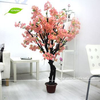 Gnw Bls041 Silk Mini Artificial Bonsai Cherry Blossom Tree Indoor Decoration Artificial Plants Decor Artificial Cherry Blossom Tree Artificial Indoor Trees