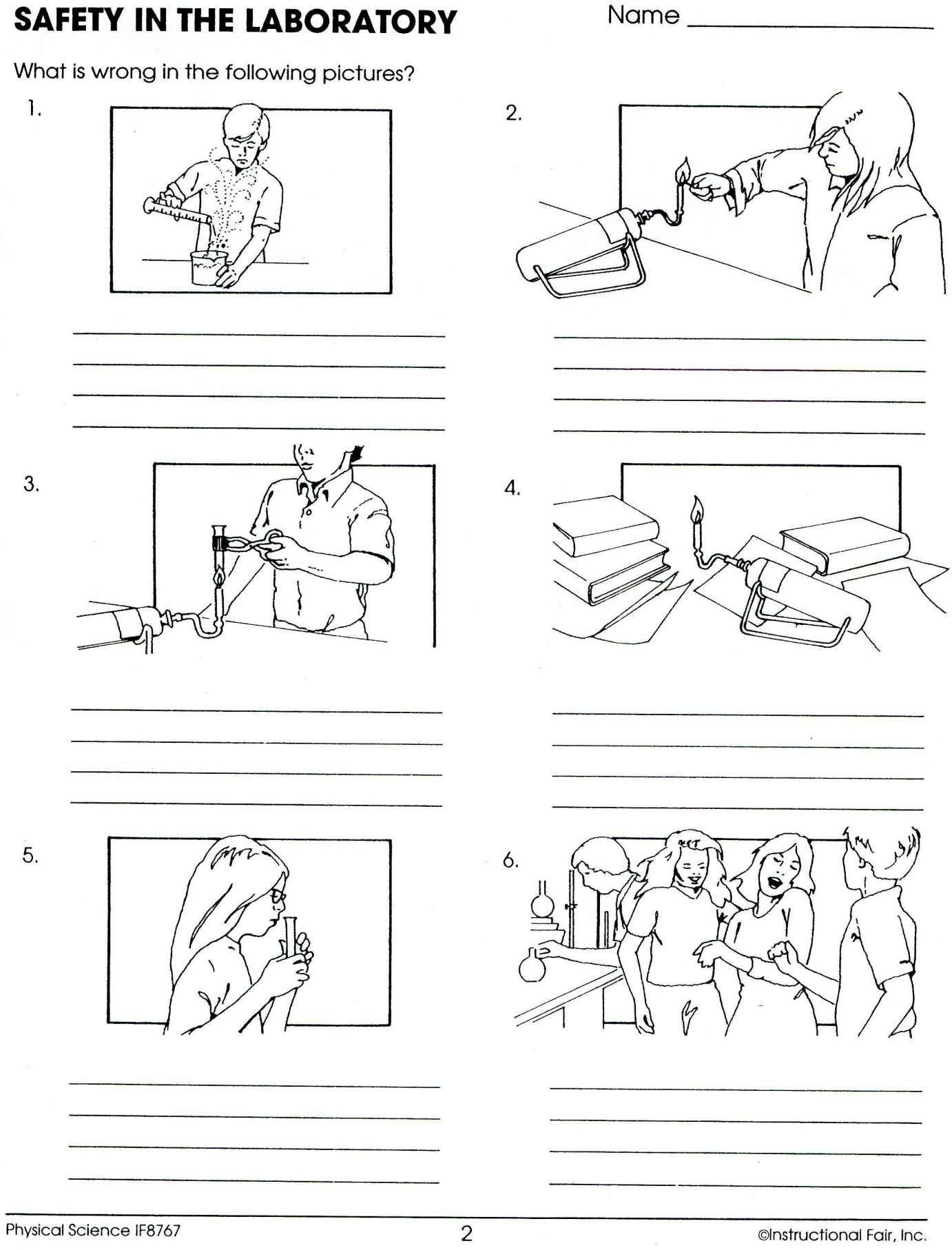 16 Science Lab Safety Worksheet For Kindergarten