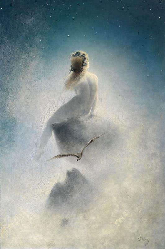 Karl Wilhelm Diefenbach (German painter) 1851 - 1913 Question to the Stars