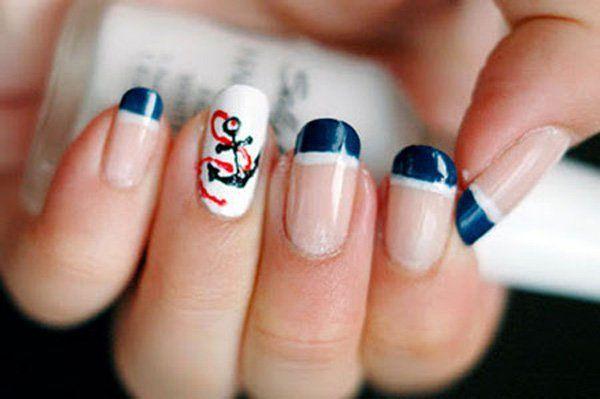 anchor nail art - 60 Cute Anchor Nail Designs <3 <3 #cruisenails - Anchor Nail Art - 60 Cute Anchor Nail Designs <3 <3 #cruisenails